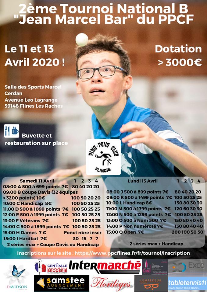 Tournoi National B 2020 PPC Flines Les Râches Affiche